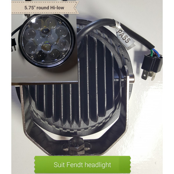 36W LED round Fendt headlight lamp Hi Lo beam MF Fastrac tractor