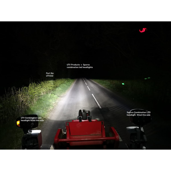 LED headlights lamp with amber turn and position-telehandler-forklift, sprayer, tractor ONE PAIR