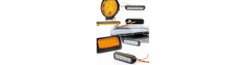 Amber strobe warning grille led