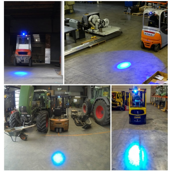 Blue tight beam LED Spot light lamp suit sprayer jet boom forklift househam bateman chafer