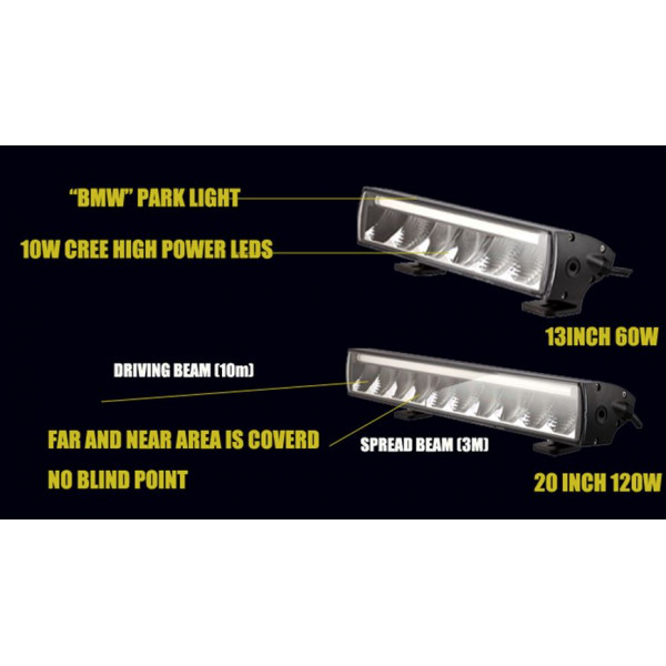100w single row led lightbar suit HGV truck Gator Tractor Ford Ranger pickup