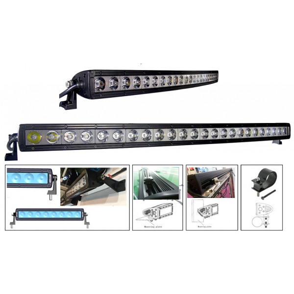 240 watt single row curved led lightbar black suit tractor-TIR-lens
