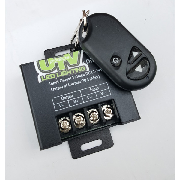 Dimmer module to reduce brightness of most led lights and lightbars.