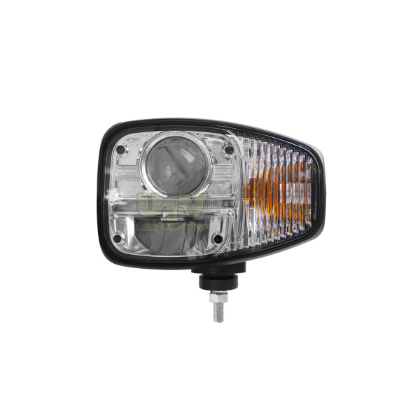 LED headlight with turn signal and DRL suit telehandler, forklift, sprayer, tractor