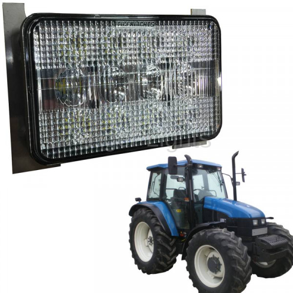 60 watt New Holland tractor TS series led headlight, 3500lm, 6x4