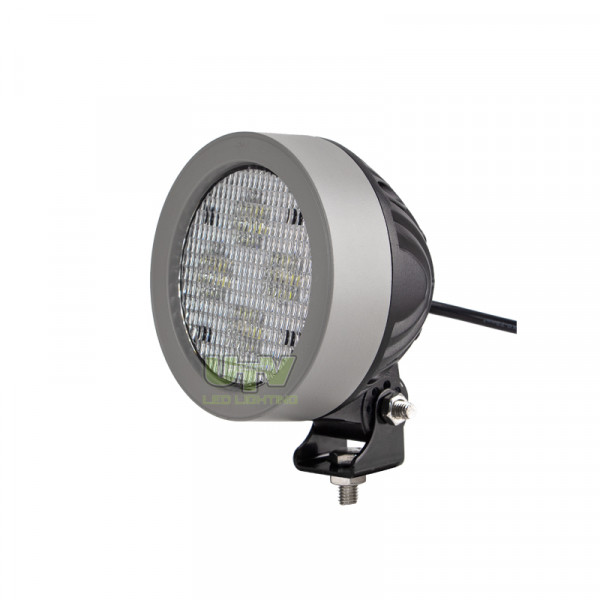 UTV354 Round Oval John deere 20/30 series work light in silver grey