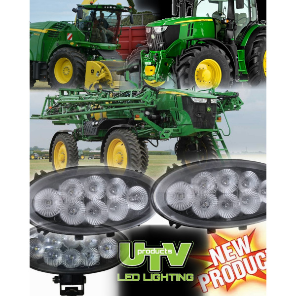60w John Deere slim oval led work light John Deere R series jcb fastrac tractor, 4500 lm