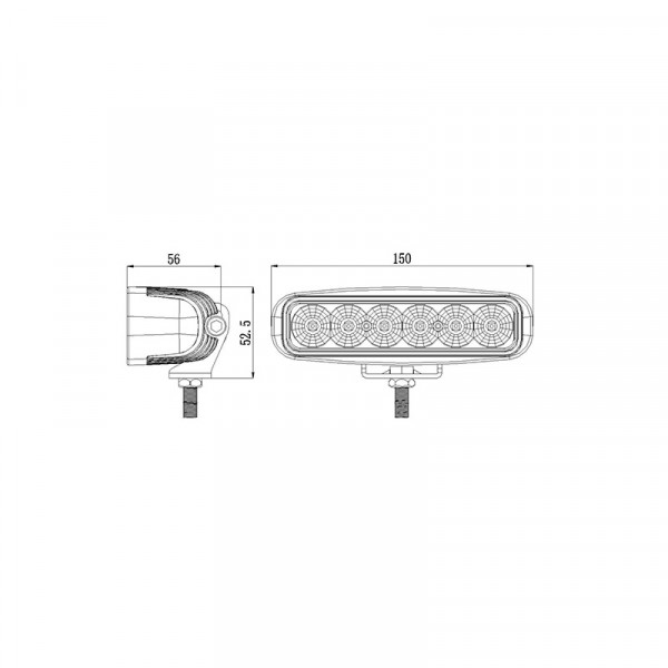 18 watt oblong led work or reverse light-trailer-4x4