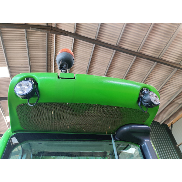 30 watt round led work light tractor digger Claas John Deere Deutz Merlo H9 Connector