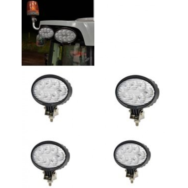 DISCOUNTED - Massey Ferguson tractor 40w led work light set of 4. Suit 66-77 range
