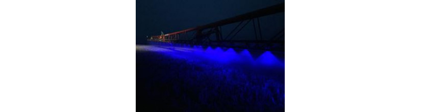 Blue LED Light suit crop sprayer or forklift