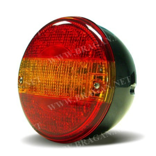 Hamburger round led rear tail light combination britax truck trailer