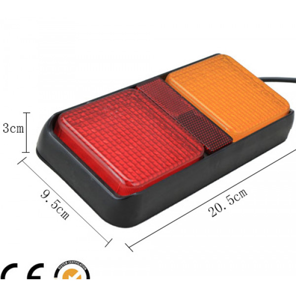 Rear combination led tail light with reflector