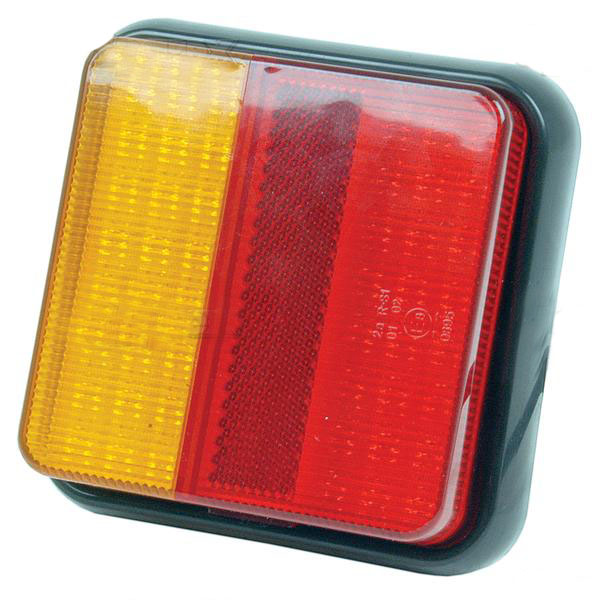 Square led rear tail light includes reflector E marked