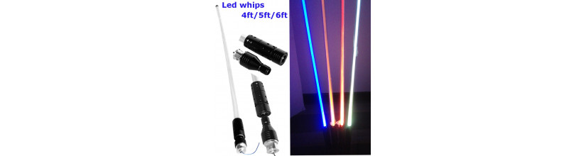 Buggy Whip Pole light suit quarry truck mining led
